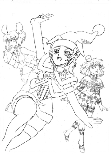 2014年クリスマス(線画).jpg
