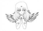 Pray for Japan(線画).jpg